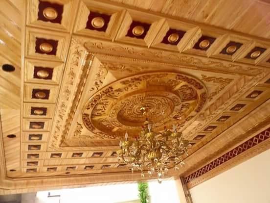trần gỗ pơ mu Ninh Bình 2
