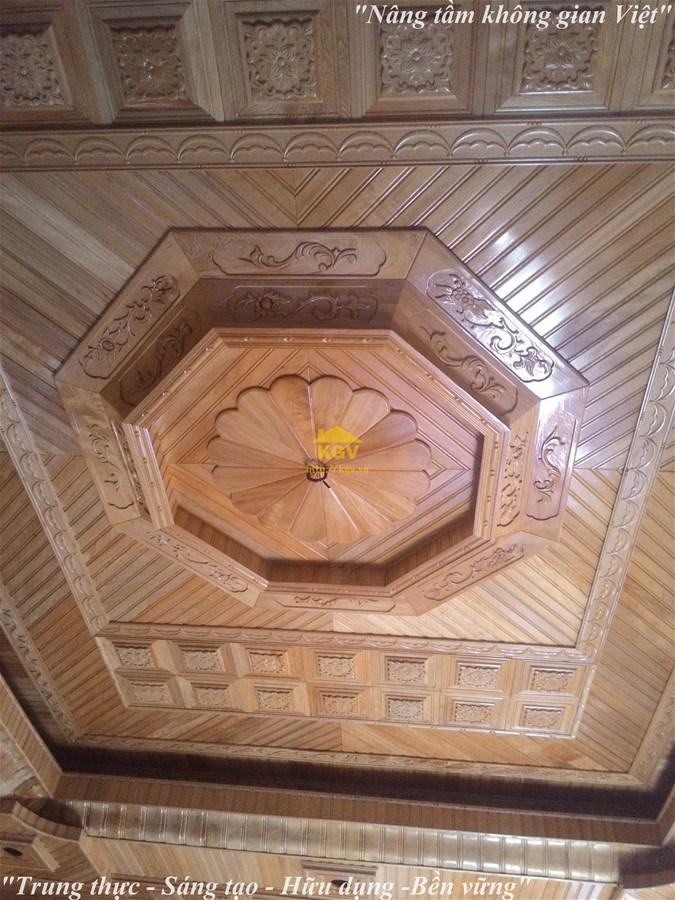 thi công trần gỗ Pơ mu tại Ninh Bình giá rẻ nhất