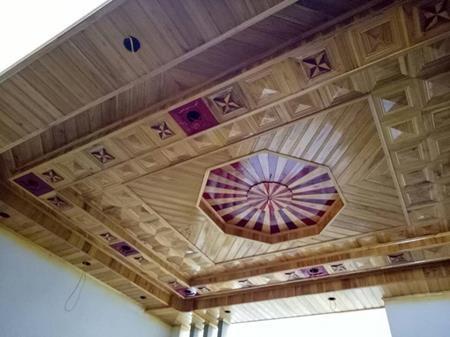 làm trần gỗ xoan Ninh Bình