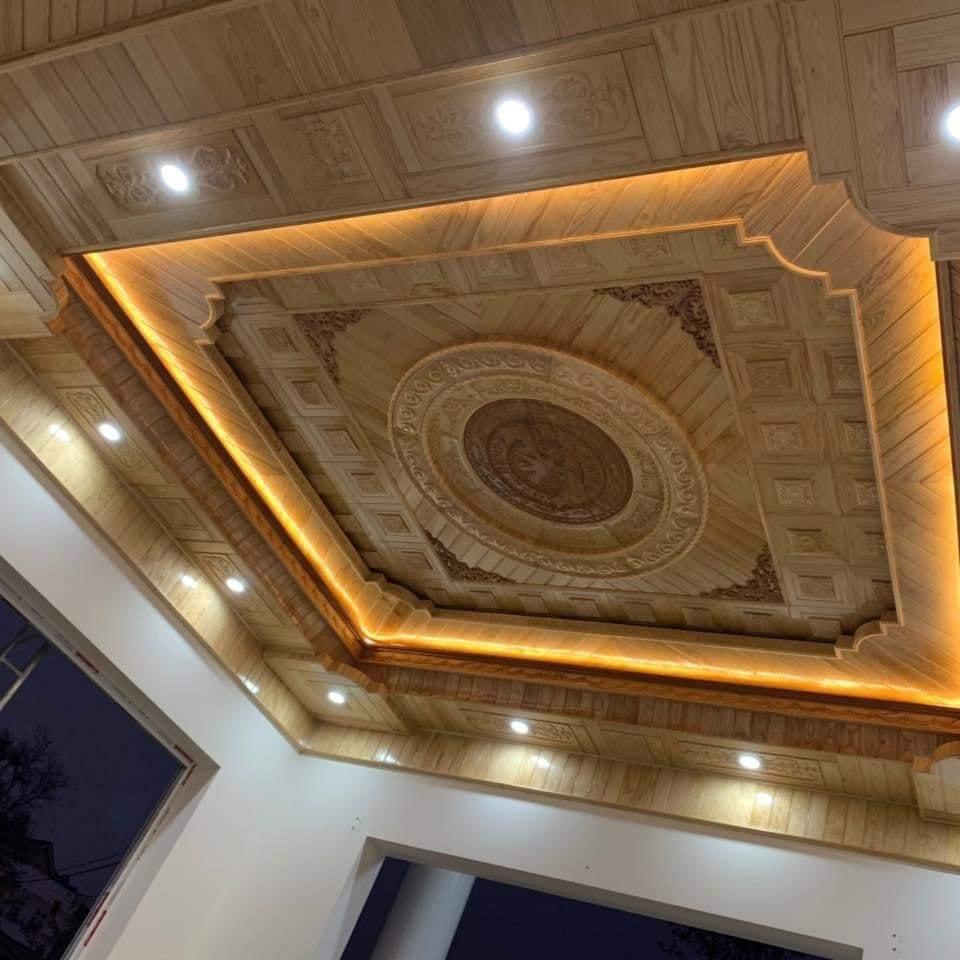 mẫu trần gỗ Pơ mu tại Giao Thủy - nam định
