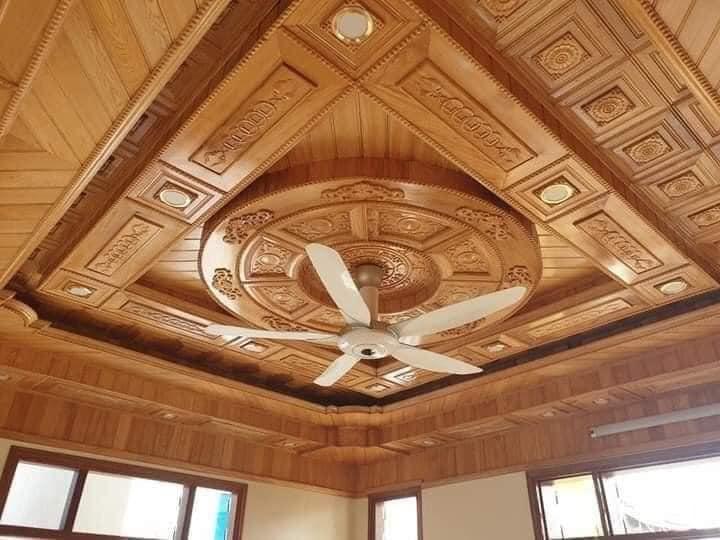 trần gỗ vĩnh phúc đẹp nhất