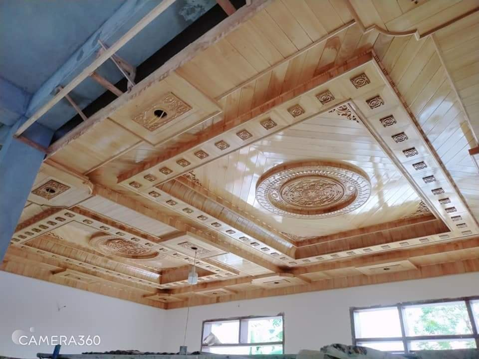Thi công trần gỗ tại Quảng Ninh