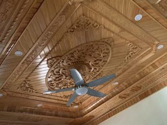 trần gỗ tự nhiên Ba vf